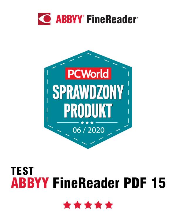 FineReader PDF 15 rekomendacja SPRAWDZONY PRODUKT PC World